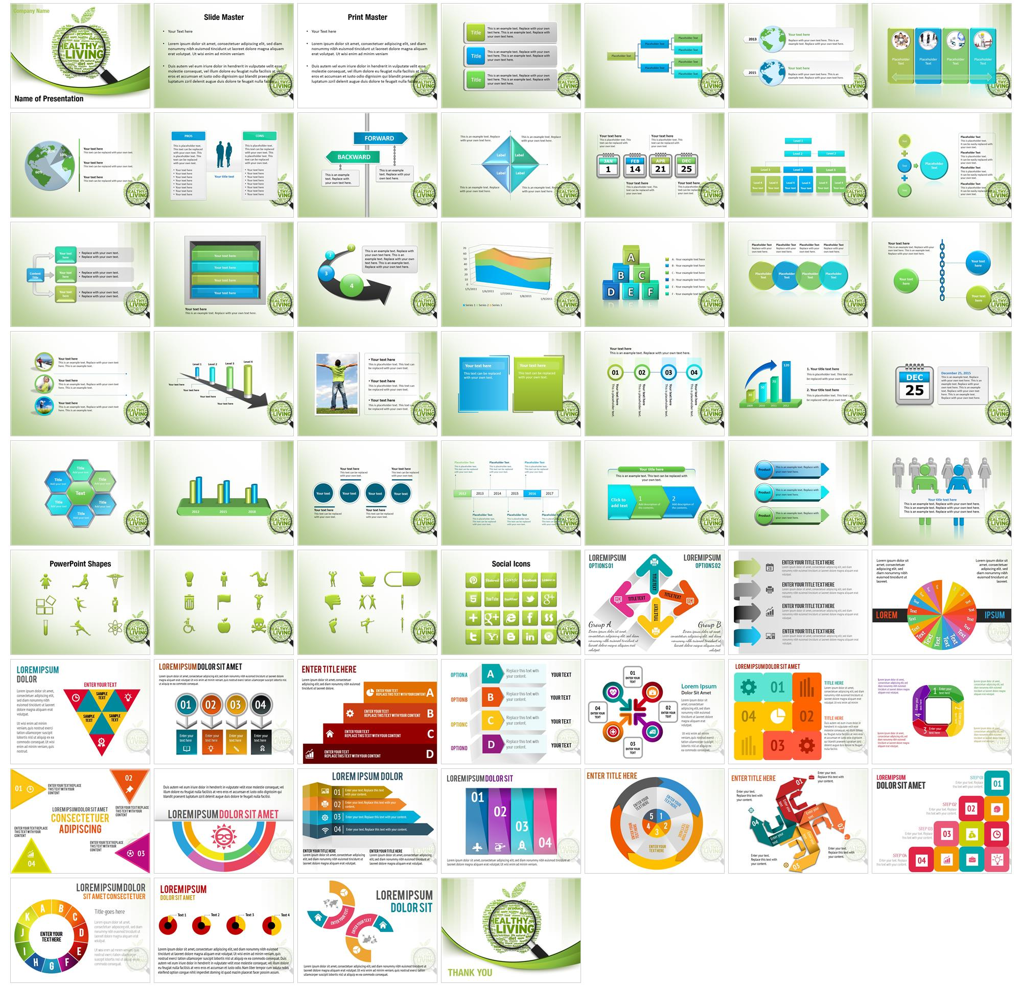 Healthy Living PowerPoint Templates