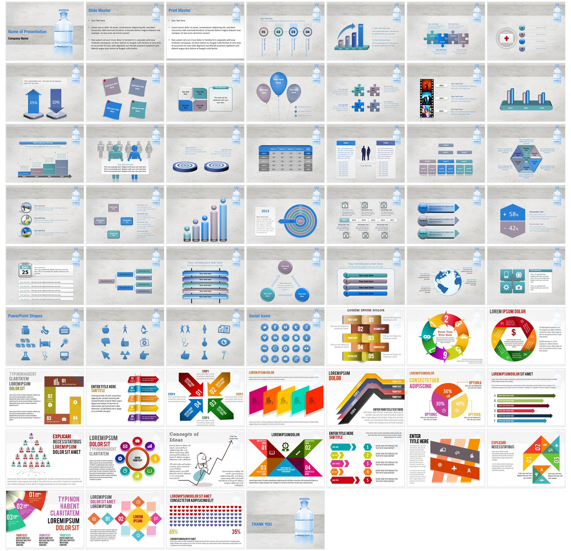 medical alcohol bottle powerpoint templates medical