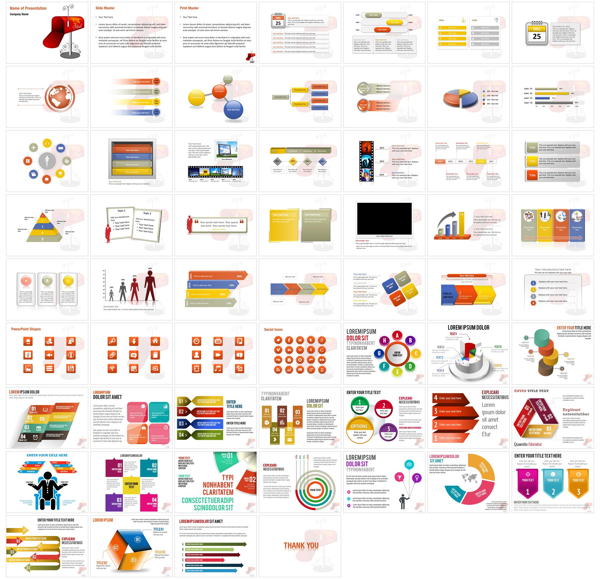 You`ve Got Email PowerPoint Template Backgrounds