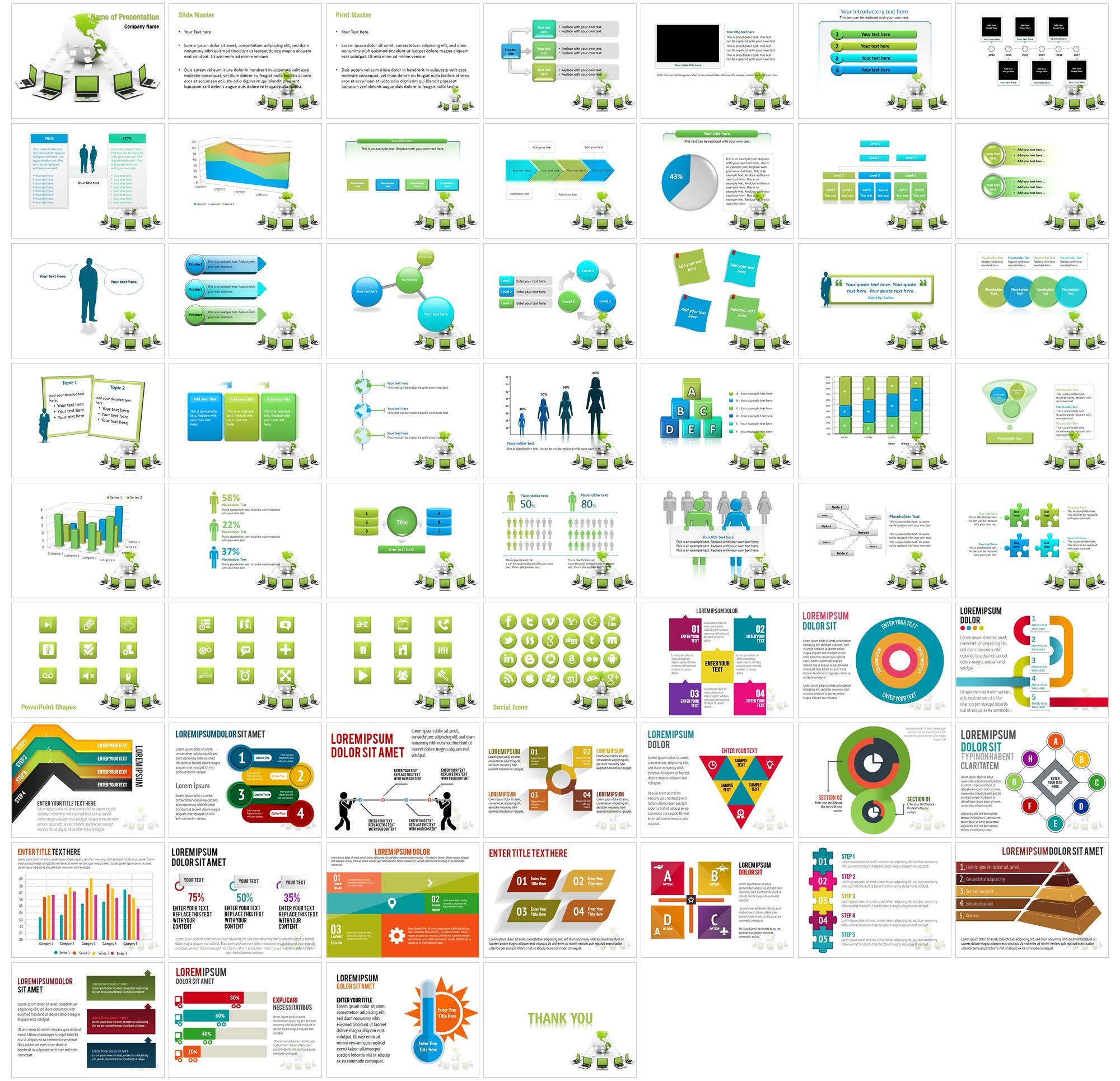 Data Transfer Powerpoint Templates Editable Ppt Wire Connections Slides Large Preview