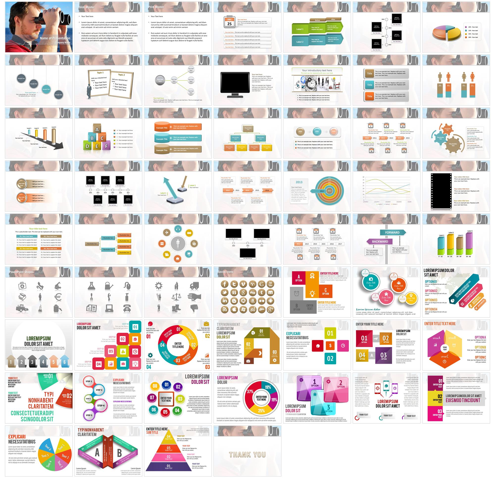 Observation Area PowerPoint Templates